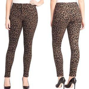 NINE WEST Gramercy animal print skinny jeans 14